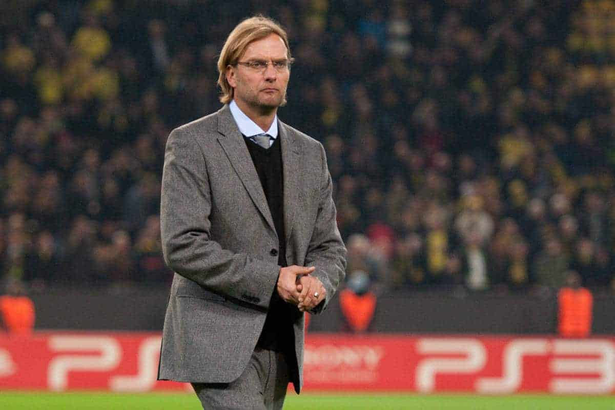 01.11.2011, Signal Iduna Park, Dortmund, GER, UEFA Champions League, Vorrunde, Borussia Dortmund (GER) vs Olympiacos Piraeus (GRE), im Bild Juergen Klopp (Trainer Dortmund) // during Borussia Dortmund (GER) vs Olympiacos Piraeus (GRE) at Signal Iduna Park, Dortmund, GER, 2011-11-01. EXPA Pictures © 2011, PhotoCredit: EXPA/ nph/ Kurth ****** out of GER / CRO / BEL ******