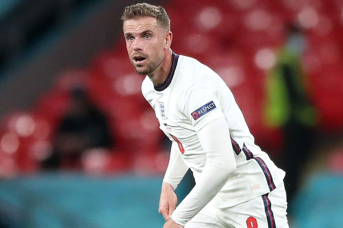 England's Jordan Henderson during the UEFA Euro 2020 Group D match at Wembley Stadium, London. Picture date: Tuesday June 22, 2021.