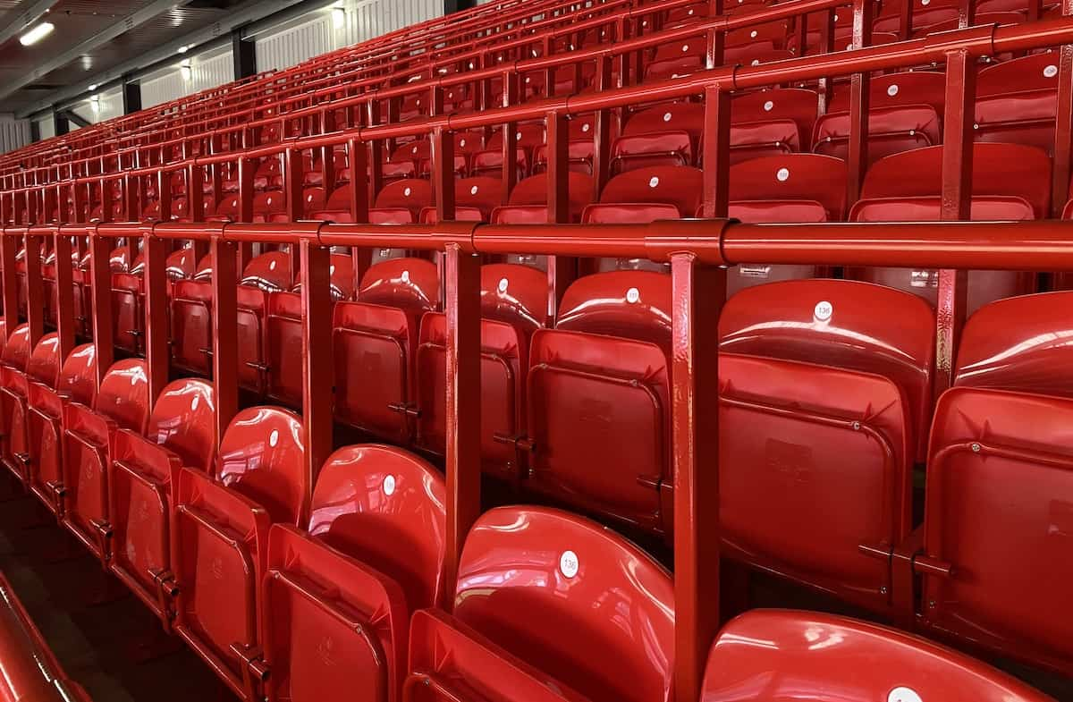 Anfield, Kop, rail seating (Image: This Is Anfield)