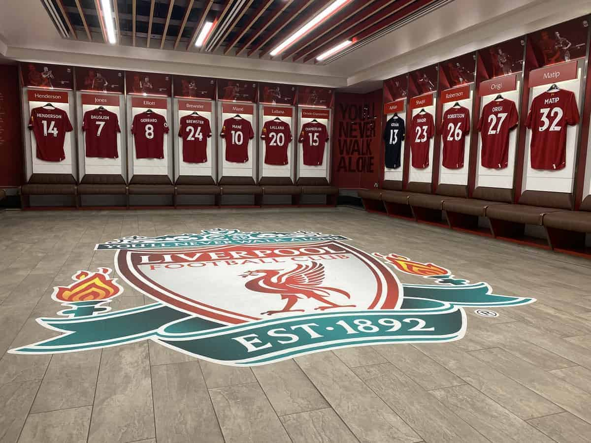 Anfield changing room, 2019 (Image: This Is Anfield)