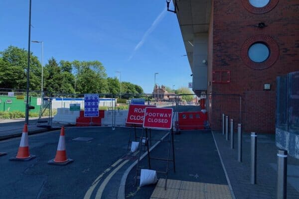 Anfield Road End, road closed - June 12, 2021