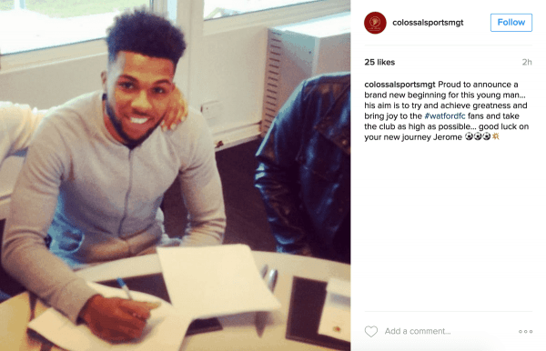 Jerome Sinclair signs for Watford
