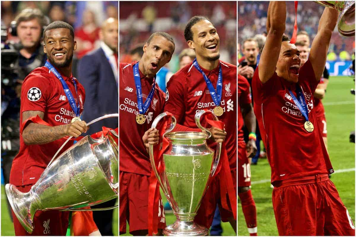 Every Liverpool FC player with the Champions League trophy ...