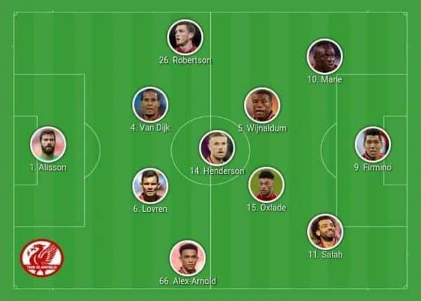 Liverpool 4-3-3 Henderson 6