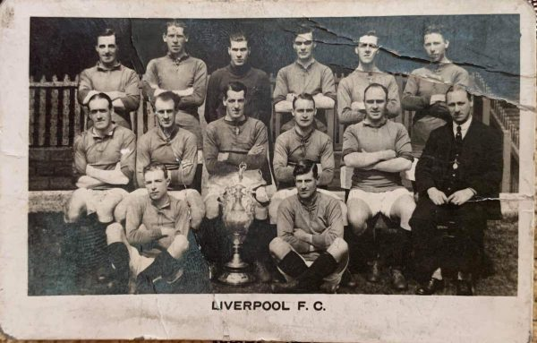 (Please credit within piece: The Bromilow family) Liverpool squad photo 1922/23