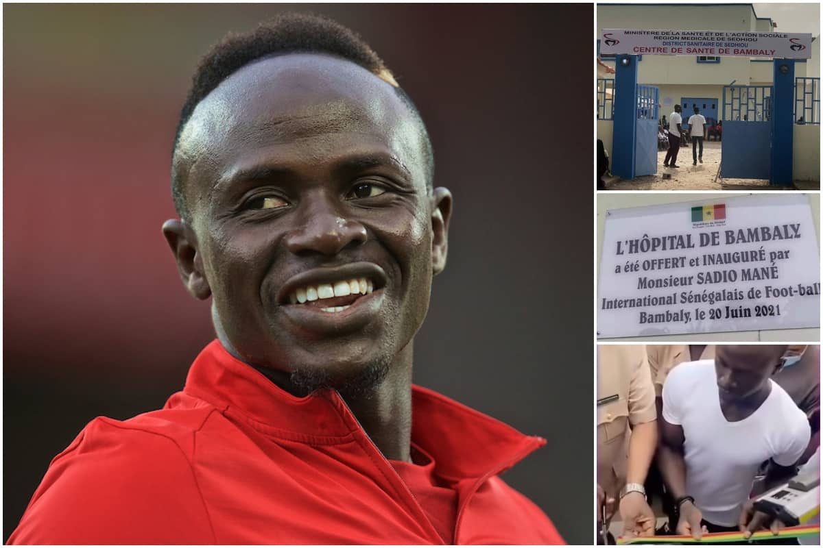 Mane cuts ribbon for hometown hospital after £455,000 donation