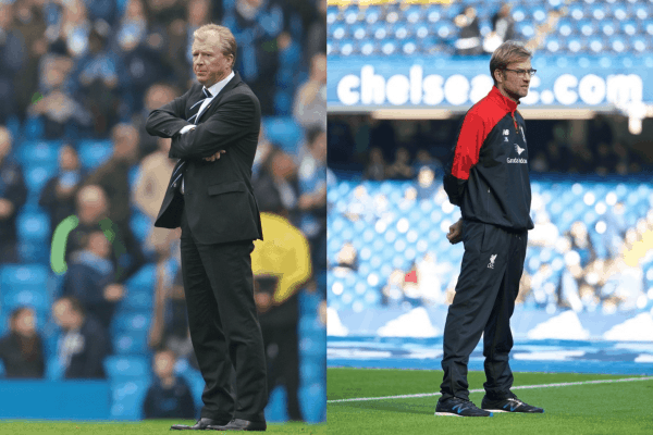 MANCHESTER, ENGLAND - Saturday, October 3, 2015: Newcastle United's head coach Steve McClaren on the pitch after the Premier League match against Manchester City at the City of Manchester Stadium. (Pic by David Rawcliffe/Propaganda)
