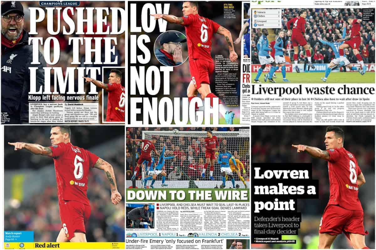 Unusual Lapses Missing Creativity Sees Big Opportunity Wasted Media On Liverpool 1 1 Napoli Liverpool Fc This Is Anfield