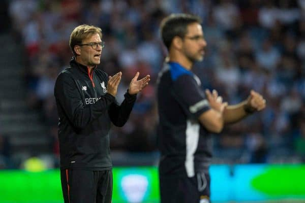 HUDDERSFIELD, ENGLAND - Wednesday, July 20, 2016: Liverpool manager Jurgen Klopp during the Shankly Trophy pre-season friendly match against Huddersfield Town at the John Smith's Stadium. (Pic by Paul Greenwood/Propaganda)