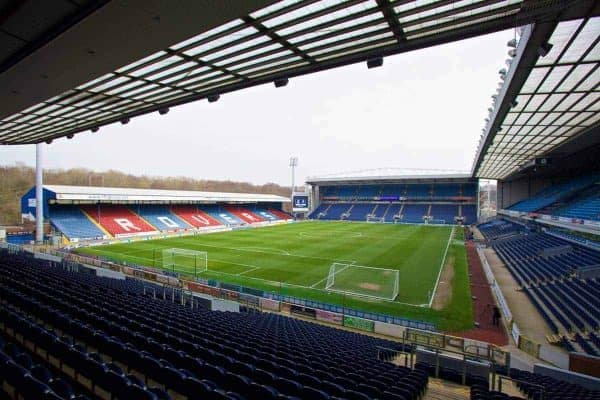 A general view of Blackburn Rovers' Ewood Park Stadium before the FA Cup 6th Round Quarter-Final Replay match against Liverpool. (Pic by David Rawcliffe/Propaganda)