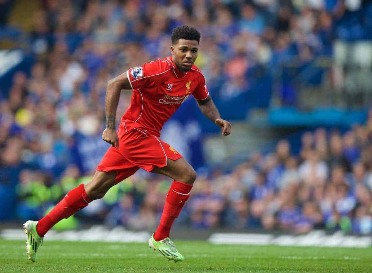 LONDON, ENGLAND - Sunday, May 10, 2015: Liverpool's Jerome Sinclair in action against Chelsea during the Premier League match at Stamford Bridge. (Pic by David Rawcliffe/Propaganda)