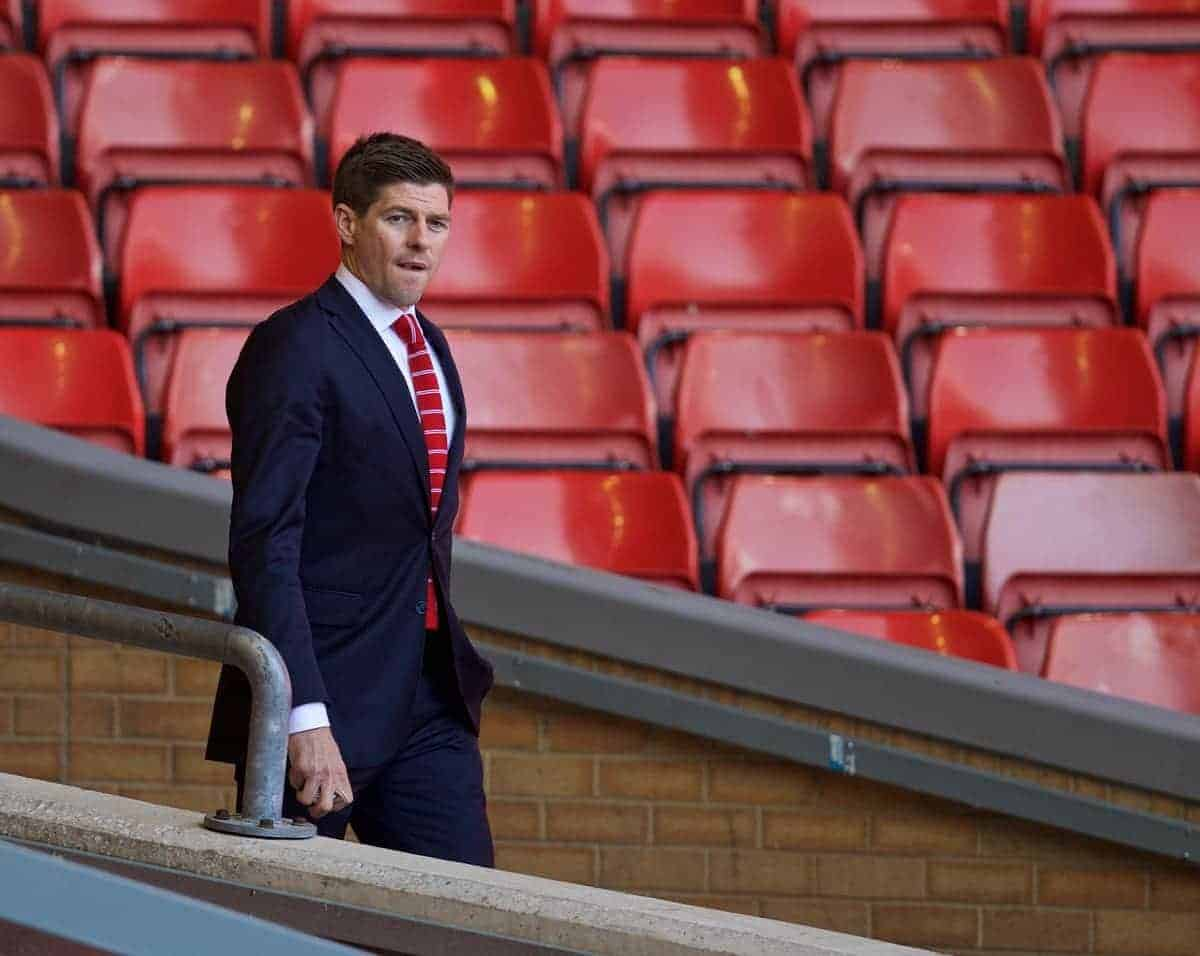 LIVERPOOL, ENGLAND - Saturday, May 16, 2015: Liverpool's captain Steven Gerrard arrives at Anfield ahead of his final home game for the Reds before the Premier League game against Crystal Palace at Anfield. (Pic by David Rawcliffe/Propaganda)