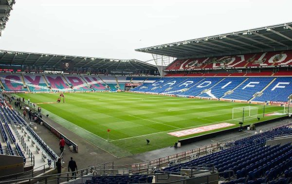 CARDIFF, WALES - Friday, June 12, 2015: A general view of Cardiff City stadium ahead of there clash against Belgium during the UEFA Euro 2016 Qualifying Round Group B match at the Cardiff City Stadium. (Pic by Ian Cook/Propaganda)