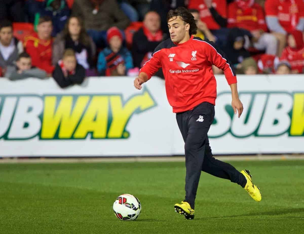 ADELAIDE, AUSTRALIA - Sunday, July 19, 2015: Liverpool's Lazar Markovic during a training session at Coopers Stadium ahead of a preseason friendly match against Adelaide United on day seven of the club's preseason tour. (Pic by David Rawcliffe/Propaganda)