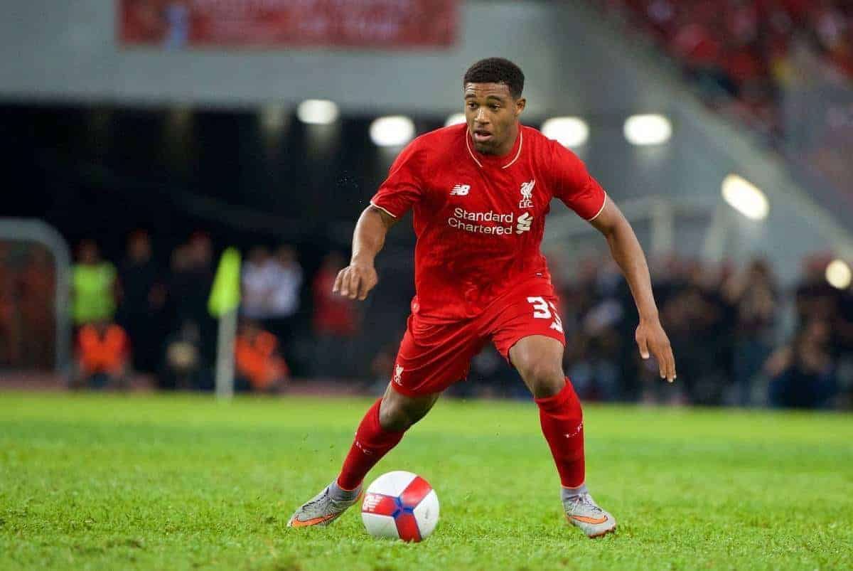 KUALA LUMPUR, MALAYSIA - Friday, July 24, 2015: Liverpool's Jordon Ibe in action against a Malaysia XI during a friendly match at the Bukit Jalil National Stadium on day twelve of the club's preseason tour. (Pic by David Rawcliffe/Propaganda)