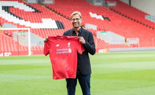Liverpool announce German Jürgen Klopp as new manager during a press conference at Anfield. (Pic by David Rawcliffe/Propaganda)