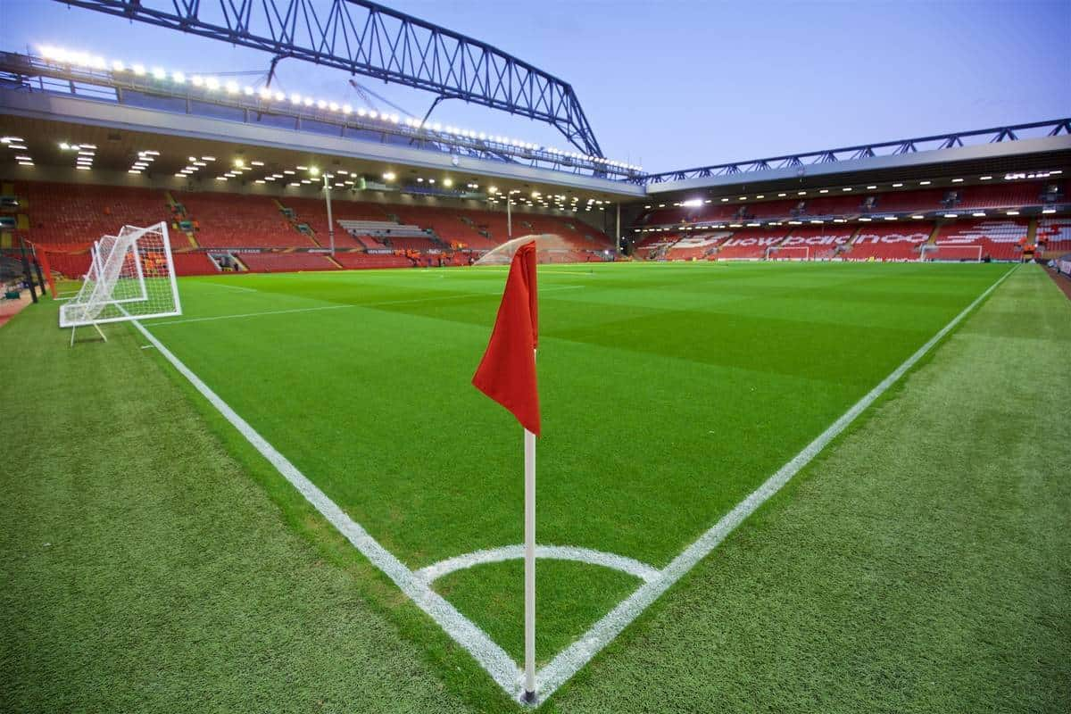 LIVERPOOL, ENGLAND - Thursday, October 22, 2015: A general view of Liverpool's Anfield stadium before the UEFA Europa League Group Stage Group B match against Rubin Kazan. (Pic by David Rawcliffe/Propaganda)