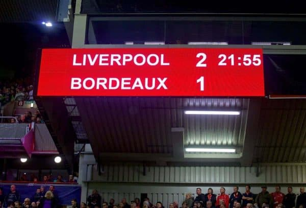 European Football - UEFA Europa League - Group Stage Group B - Liverpool FC v FC Girondins de Bordeaux