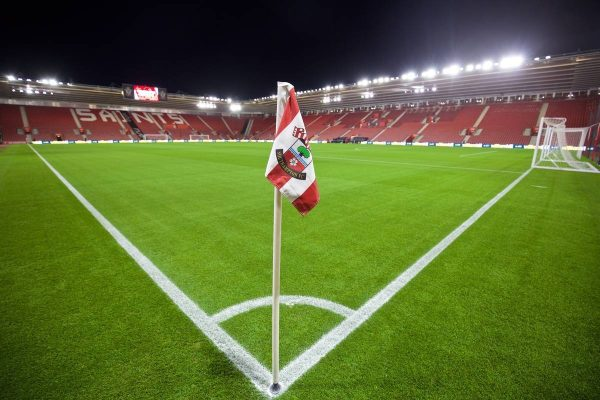SOUTHAMPTON, ENGLAND - Wednesday, December 2, 2015: A general view of Southampton's St. Mary's Stadium before the Football League Cup Quarter-Final match against Liverpool. (Pic by David Rawcliffe/Propaganda)