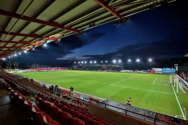 EXETER, ENGLAND - Friday, January 8, 2016: A general view of Exeter City's St. James Park before the FA Cup 3rd Round match against Liverpool. (Pic by David Rawcliffe/Propaganda)