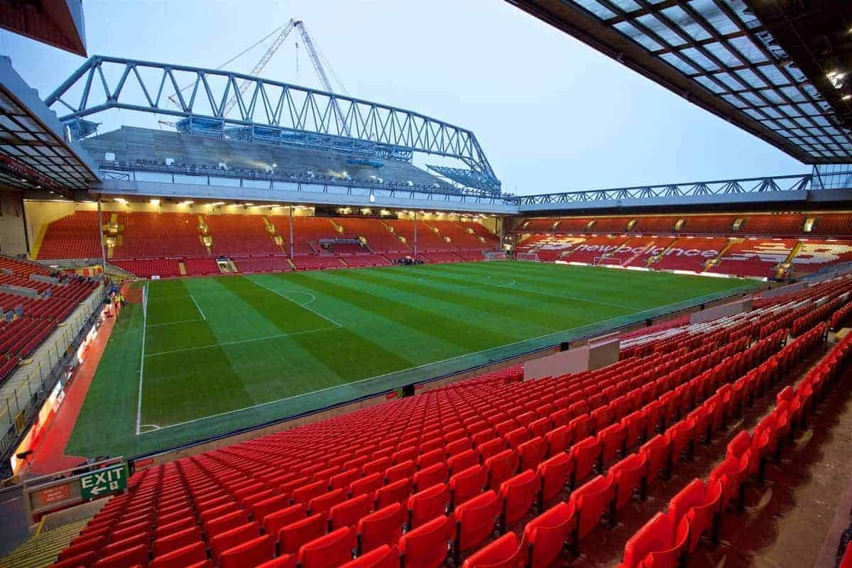 LIVERPOOL, ENGLAND - Wednesday, January 13, 2016: A general view of Anfield before the Premier League match between Liverpool and Arsenal. (Pic by David Rawcliffe/Propaganda)