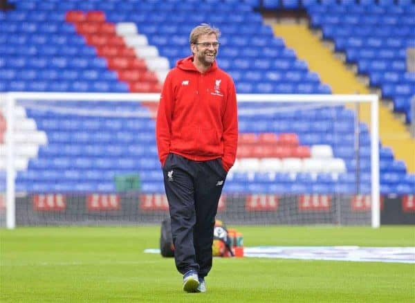 LONDON, ENGLAND - Sunday, March 6, 2016: Liverpool's manager Jürgen Klopp arrives at Selhurst Park before the Premier League match against Crystal Palace. (Pic by David Rawcliffe/Propaganda)