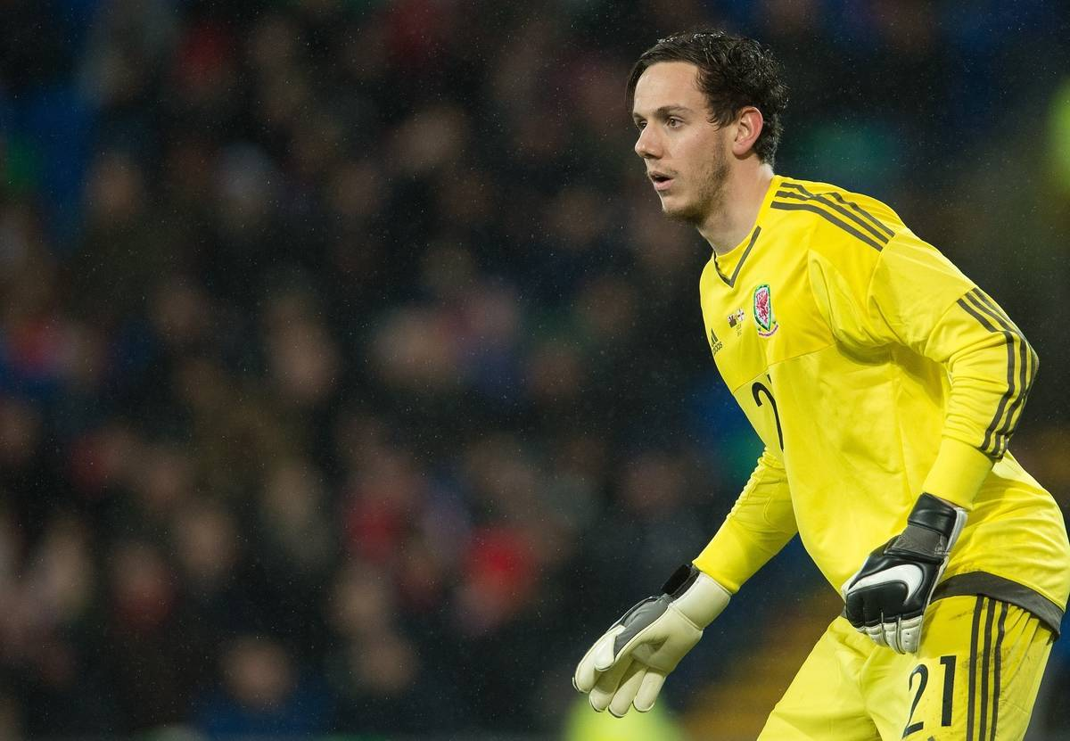 CARDIFF, WALES - Thursday, March 24, 2016: Wales Danny Ward in action against Northern Ireland during an International Friendly match at the Cardiff City Stadium. (Pic by Ian Cook/Propaganda)
