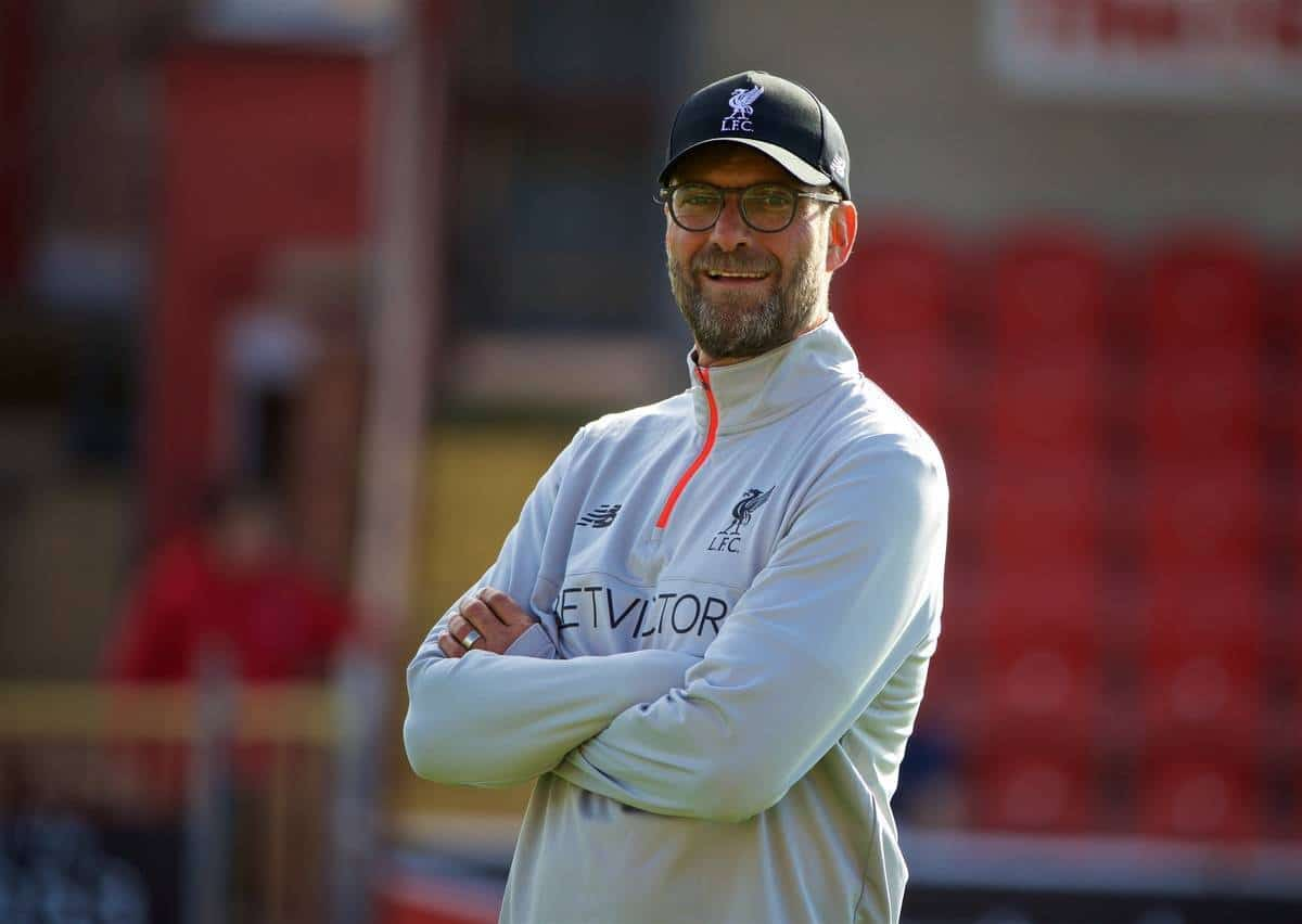 FLEETWOOD, ENGLAND - Wednesday, July 13, 2016: Liverpool's manager Jürgen Klopp before a friendly match against Fleetwood Town at Highbury Stadium. (Pic by David Rawcliffe/Propaganda)