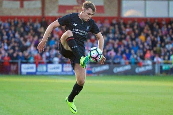 Liverpool's Connor Randall in action against Fleetwood Town during a friendly match at Highbury Stadium. (Pic by David Rawcliffe/Propaganda)