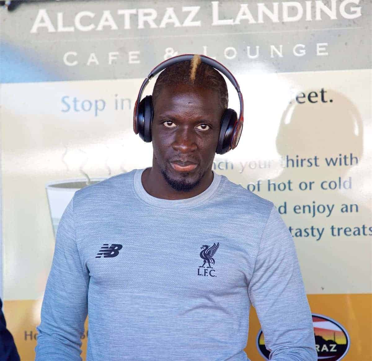 SAN FRANCISCO, USA - Thursday, July 21, 2016: Liverpool's Mamadou Sakho takes a cruise to Alcatraz Island from Pier 33 to visit the prison on day one of the club's USA Pre-season Tour. (Pic by David Rawcliffe/Propaganda)