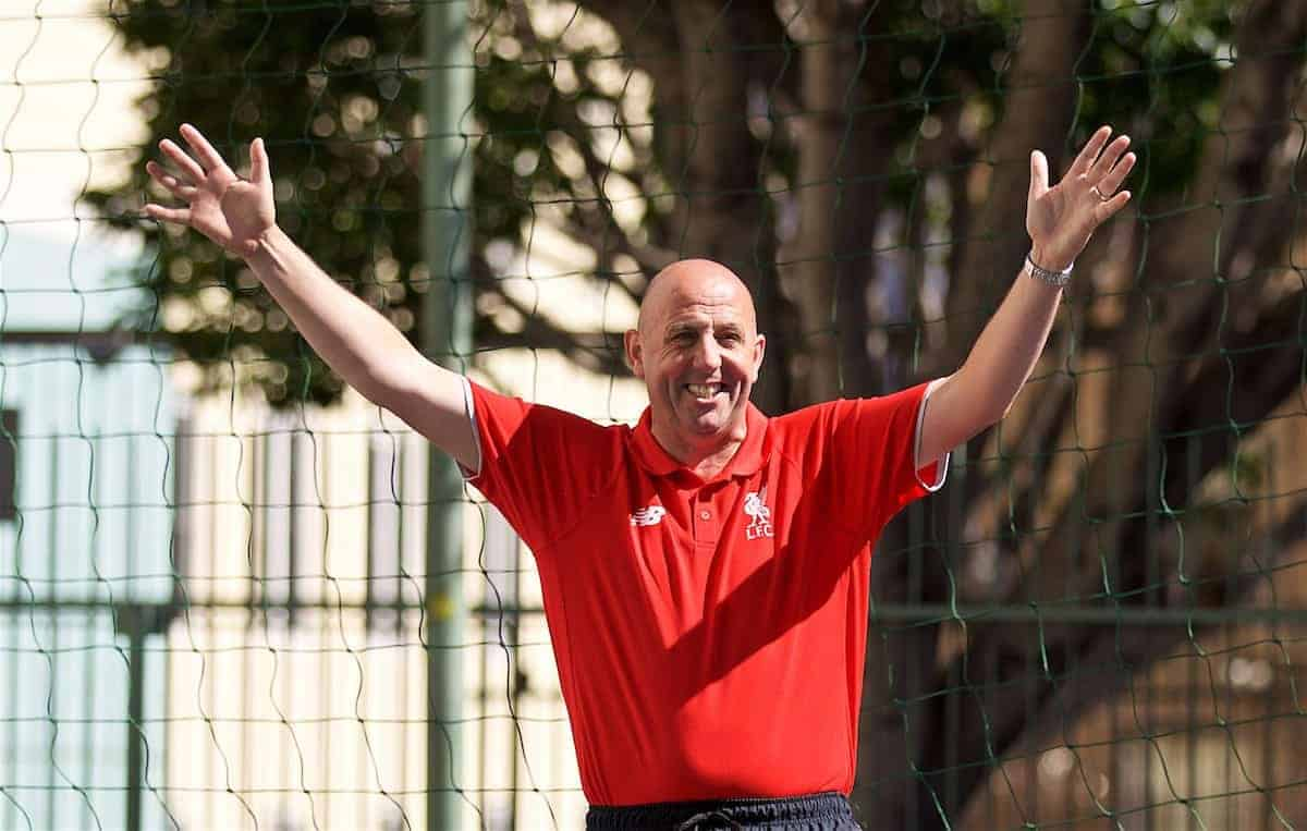 SAN FRANCISCO, USA - Friday, July 22, 2016: Liverpool FC legend Gary McAllister during a visit to a Street Soccer USA event with the LFC Foundation at the Tenderloin Children's Playground on day two of the club's USA Pre-season Tour. (Pic by David Rawcliffe/Propaganda)