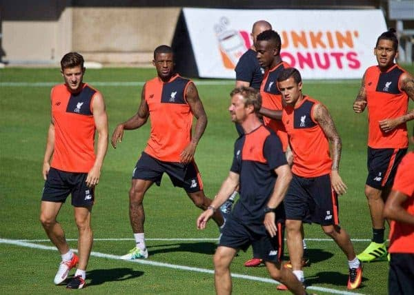 STANFORD, USA - Saturday, July 23, 2016: Liverpool's new signing Georgina Wijnaldum during a training session in the Laird Q. Cagan Stadium at Stanford University on day one of the club's USA Pre-season Tour. (Pic by David Rawcliffe/Propaganda)