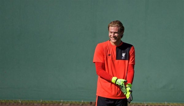 STANFORD, USA - Saturday, July 23, 2016: Liverpool's goalkeeper Loris Karius during a training session in the Laird Q. Cagan Stadium at Stanford University on day one of the club's USA Pre-season Tour. (Pic by David Rawcliffe/Propaganda)