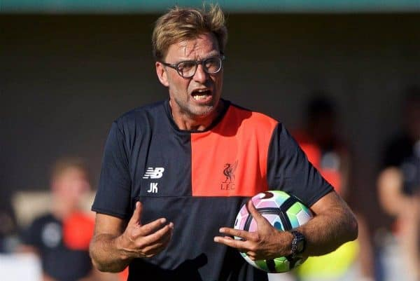 STANFORD, USA - Saturday, July 23, 2016: Liverpool's manager Jürgen Klopp during a training session in the Laird Q. Cagan Stadium at Stanford University on day one of the club's USA Pre-season Tour. (Pic by David Rawcliffe/Propaganda)