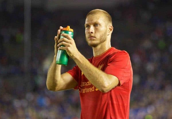 PASADENA, USA - Wednesday, July 27, 2016: Liverpool's Ragnar Klavan after the 1-0 defeat to Chelsea during the International Champions Cup 2016 game on day seven of the club's USA Pre-season Tour at the Rose Bowl. (Pic by David Rawcliffe/Propaganda)