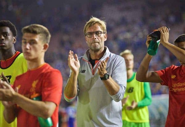Liverpool's manager Jürgen Klopp after the 1-0 defeat to Chelsea during the International Champions Cup 2016 game on day seven of the club's USA Pre-season Tour at the Rose Bowl. (Pic by David Rawcliffe/Propaganda)