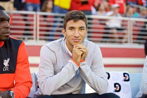SANTA CLARA, USA - Saturday, July 30, 2016: Liverpool's Marko Grujic before the International Champions Cup 2016 game against AC Milan on day ten of the club's USA Pre-season Tour at the Levi's Stadium. (Pic by David Rawcliffe/Propaganda)
