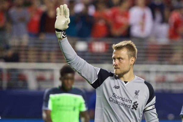 Liverpool's goalkeeper Simon Mignolet after the 2-0 victory over AC Milan during the International Champions Cup 2016 game on day ten of the club's USA Pre-season Tour at the Levi's Stadium. (Pic by David Rawcliffe/Propaganda)