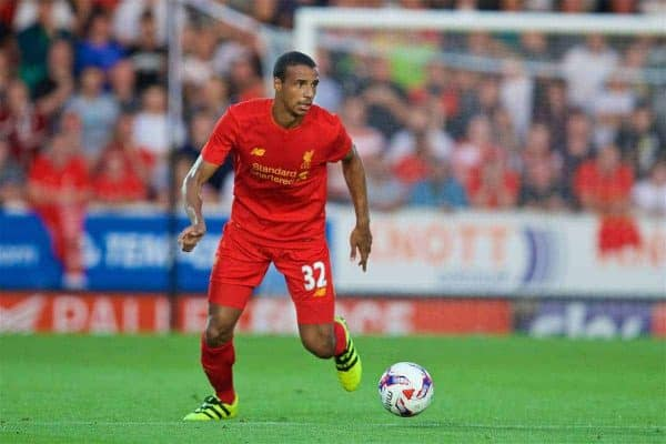 Liverpool's Joel Matip in action against Burton Albion during the Football League Cup 2nd Round match at the Pirelli Stadium. (Pic by David Rawcliffe/Propaganda)
