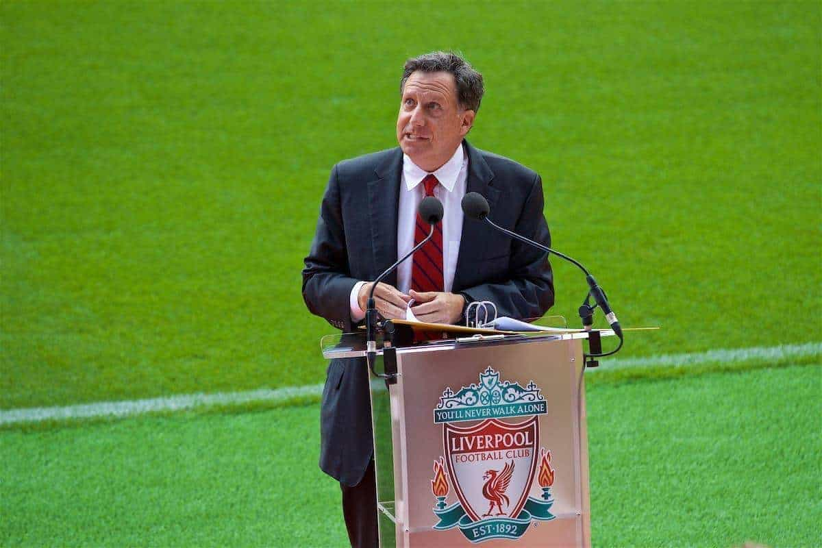 LIVERPOOL, ENGLAND - Friday, September 9, 2016: Liverpool's co-owner and NESV Chairman Tom Werner during the Liverpool FC Main Stand opening event at Anfield. (Pic by David Rawcliffe/Propaganda)