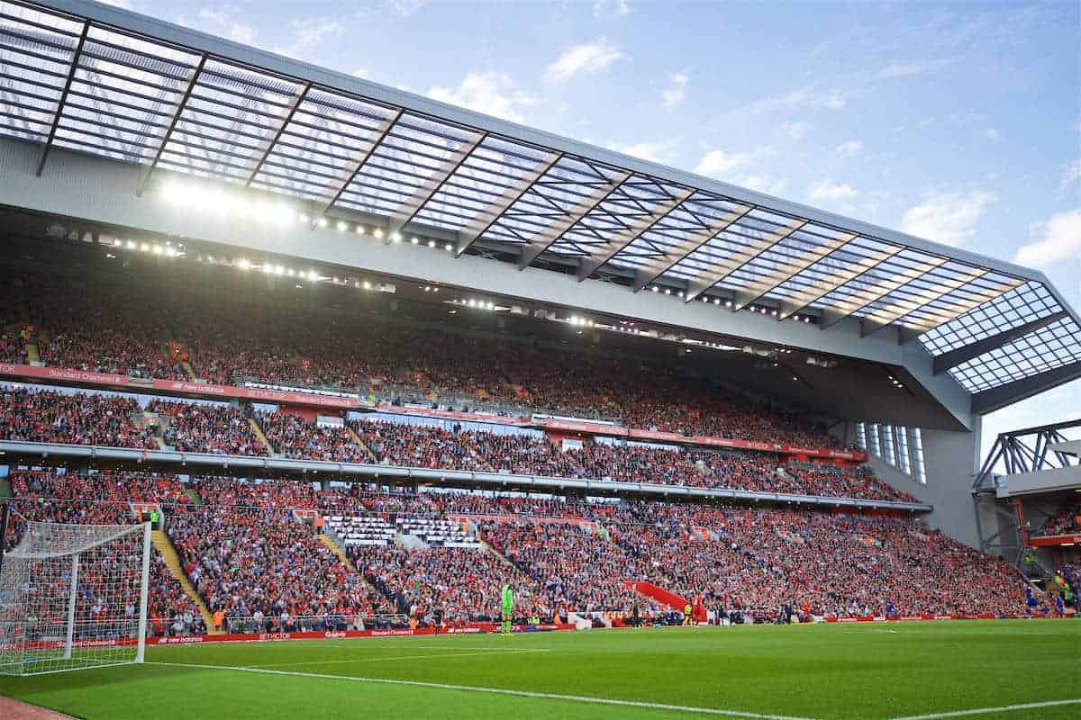LIVERPOOL, ENGLAND - Saturday, September 10, 2016: A view of Liverpool's new Main Stand during the FA Premier League match against Leicester City at Anfield. (Pic by David Rawcliffe/Propaganda)