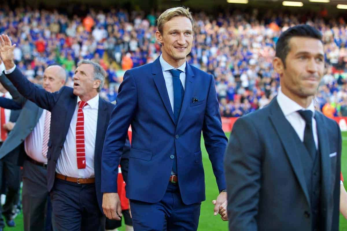LIVERPOOL, ENGLAND - Saturday, September 10, 2016: Former Liverpool player Sami Hyypia before the FA Premier League match against Leicester City at Anfield. (Pic by David Rawcliffe/Propaganda)