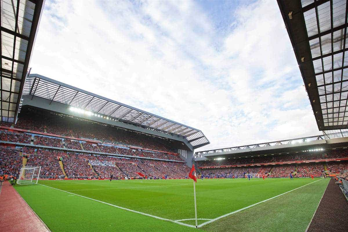LIVERPOOL, ENGLAND - Saturday, September 10, 2016: A general view of Liverpool's new Main Stand during the FA Premier League match against Leicester City at Anfield. (Pic by David Rawcliffe/Propaganda)