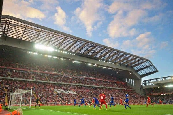 LIVERPOOL, ENGLAND - Saturday, September 10, 2016: Liverpool take on Leicester City during the FA Premier League match at Anfield. (Pic by David Rawcliffe/Propaganda)