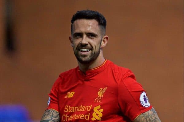 BIRKENHEAD, ENGLAND - Sunday, September 11, 2016: Liverpool's Danny Ings in action against Leicester City during the FA Premier League 2 Under-23 match at Prenton Park. (Pic by David Rawcliffe/Propaganda)