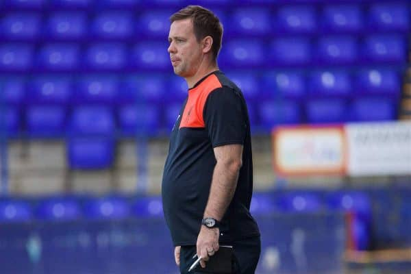 BIRKENHEAD, ENGLAND - Sunday, September 11, 2016: Liverpool's Under-23 manager Michael Beale during the FA Premier League 2 Under-23 match against Leicester City at Prenton Park. (Pic by David Rawcliffe/Propaganda)