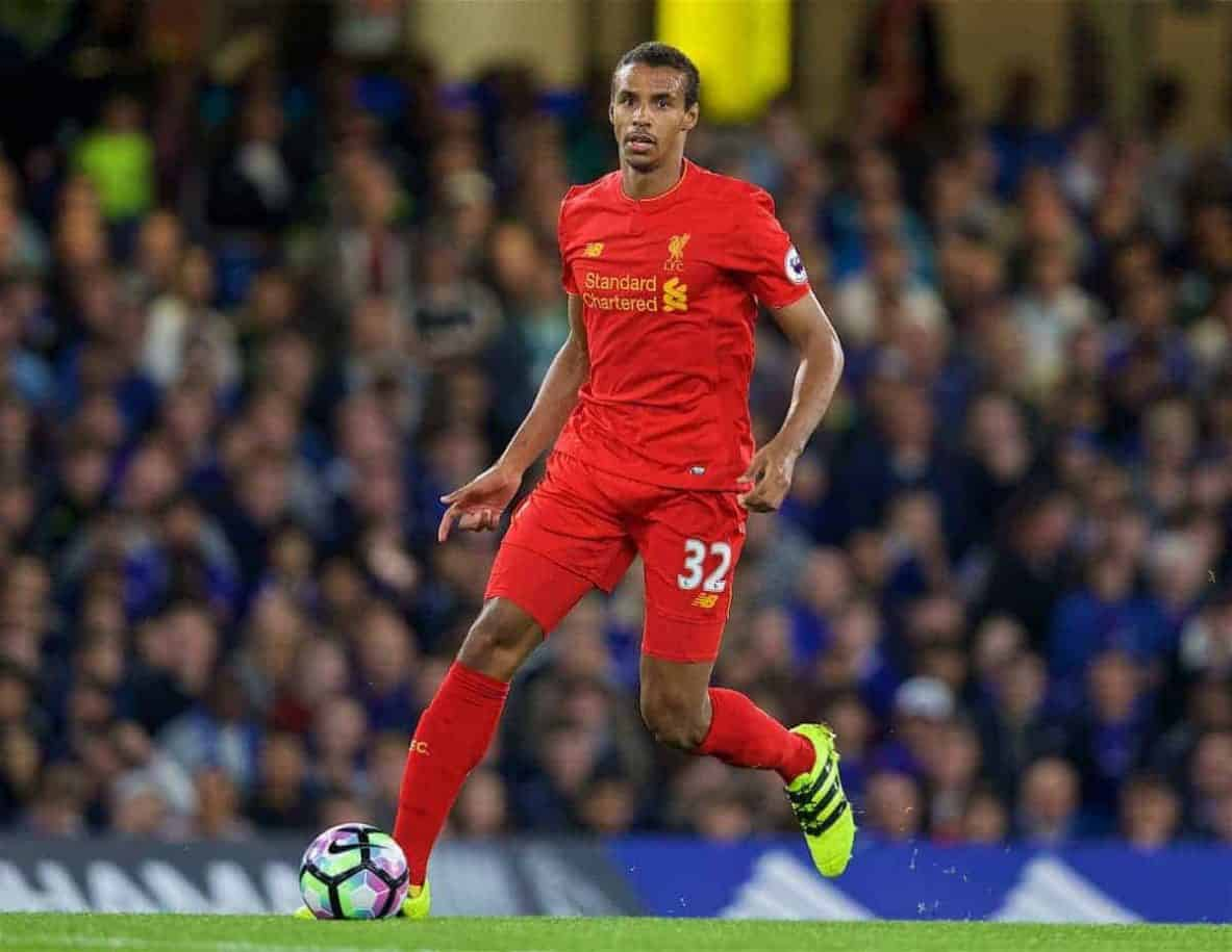 LONDON, ENGLAND - Friday, September 16, 2016: Liverpool's Joel Matip in action against Chelsea during the FA Premier League match at Stamford Bridge. (Pic by David Rawcliffe/Propaganda)