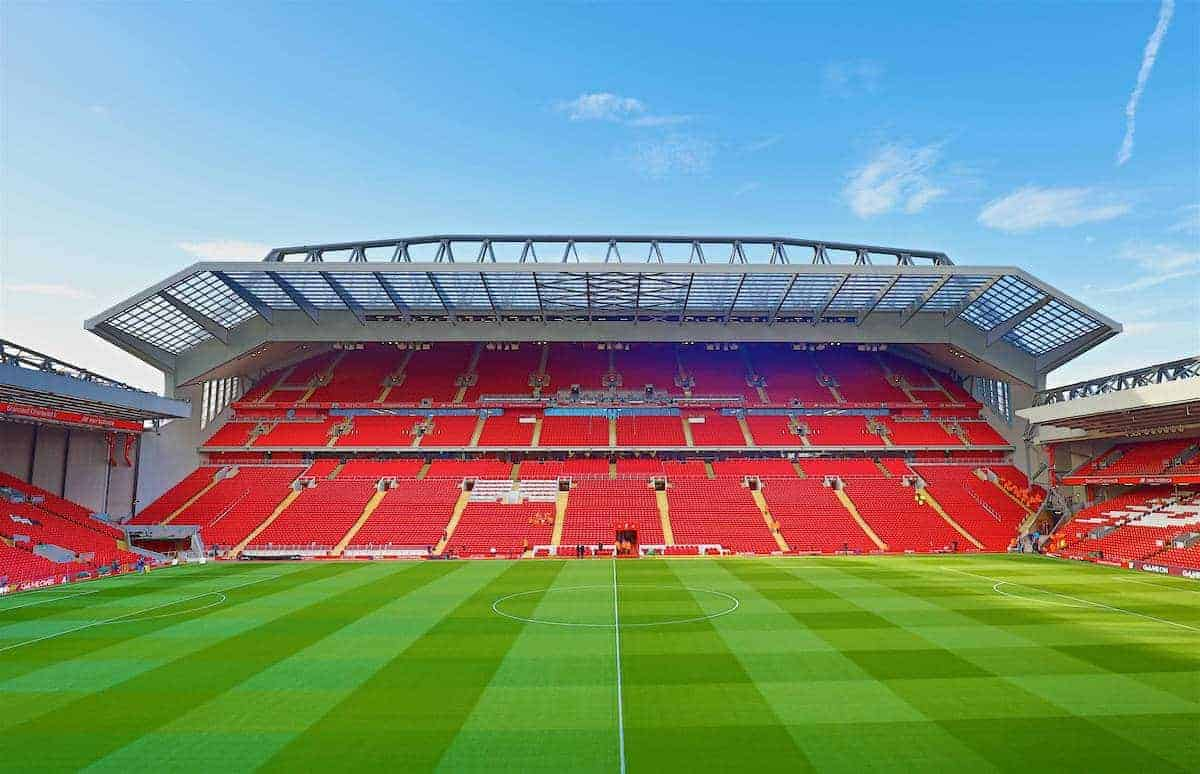 LIVERPOOL, ENGLAND - Monday, October 17, 2016: A general view of Liverpool's new Main Stand before the FA Premier League match against Manchester United at Anfield. (Pic by David Rawcliffe/Propaganda)