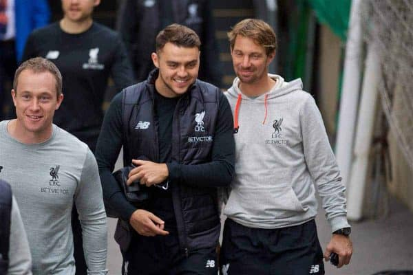 LONDON, ENGLAND - Saturday, October 29, 2016: Liverpool's Connor Randall arrives at Selhurst Park ahead of the FA Premier League match against Crystal Palace at Selhurst Park. (Pic by David Rawcliffe/Propaganda)