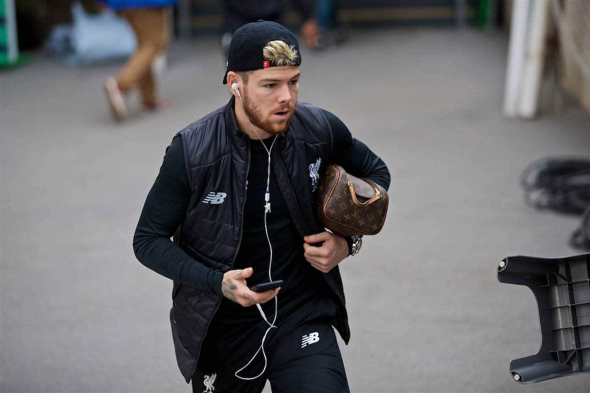LONDON, ENGLAND - Saturday, October 29, 2016: Liverpool's Alberto Moreno arrives at Selhurst Park ahead of the FA Premier League match against Crystal Palace at Selhurst Park. (Pic by David Rawcliffe/Propaganda)